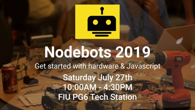 Image of NodeBots Day 2019 flyer