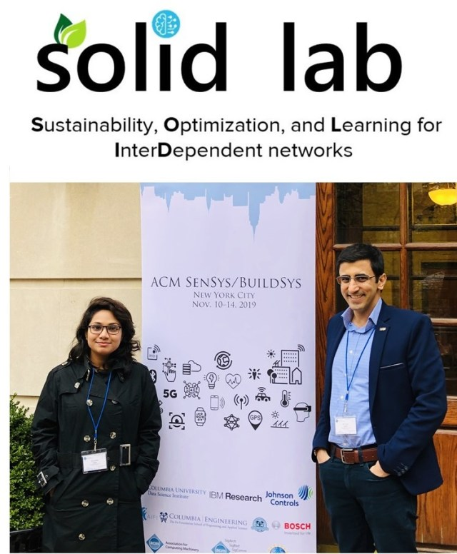 SCIS Student Sunanda Guha Attended Workshops at 6th ACM International Conference on Systems for Energy-Efficient Buildings, Cities, and Transportation (BuildSys 2019)
