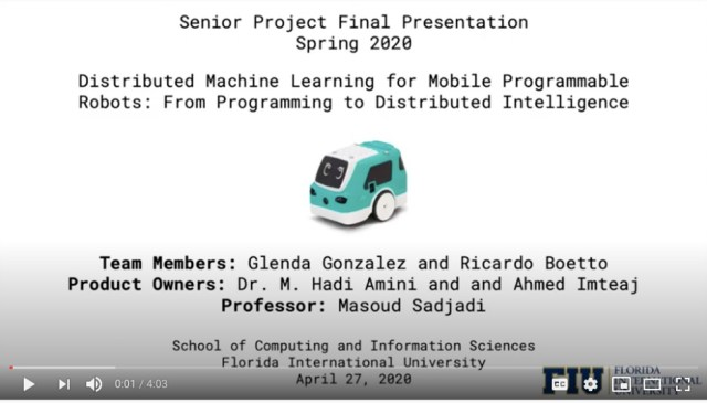 Students rise against the odds to complete their senior design project on machine learning for robotics
