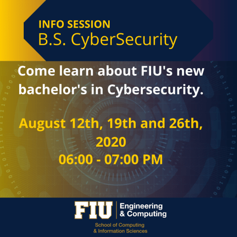 CyberSecurity Info Session Flyer