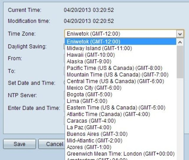 Optional If The Chosen Time Zone Has Daylight Savings Check The Daylight Saving Check Box If You Check This Box Continue To Step 4 Otherwise Go To
