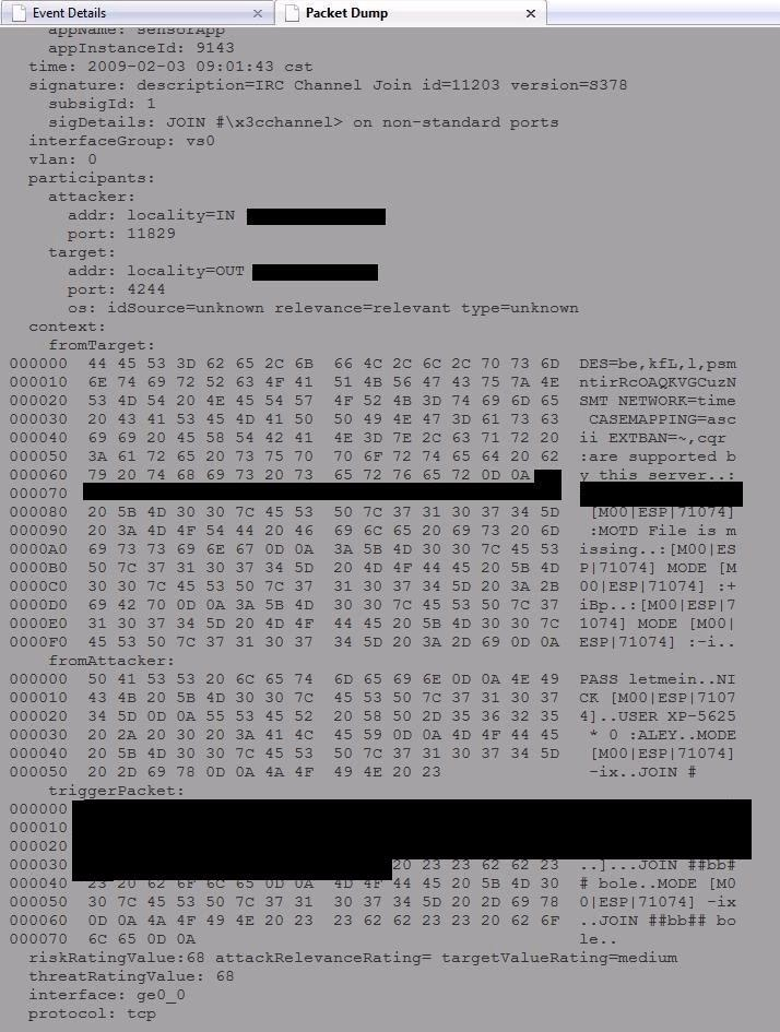 Monitoring a Cisco IPS Data Feed