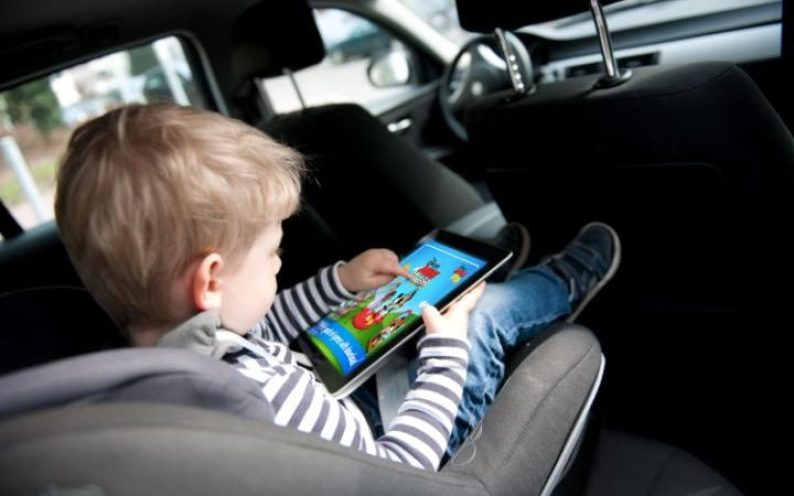 Image result for Kid Ipad in car