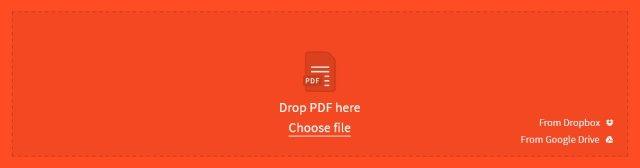 Shrink PDF on Mac with Smallpdf Step 1