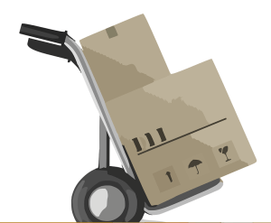 a trolley for moving things