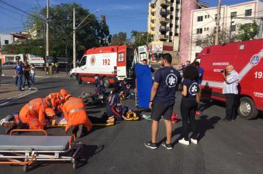 SAMU participa de simulação de acidente dentro da programação da Semana do Trânsito