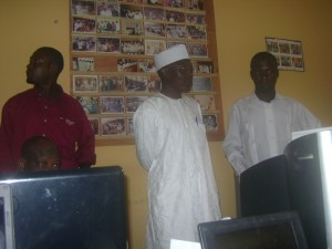 Malam Ahmed Yakasai and Rashid Sadiq addressing the participants