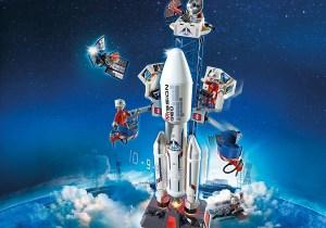 Playmobil Base de lancement avec fusée ref 6195