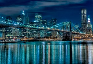 Puzzle Manhattan de nuit (1000 pièces)