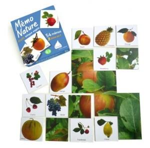 Mémo nature Fruits bilingue anglais