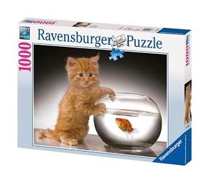 Puzzle Bon appétit le chat 1000 pièces