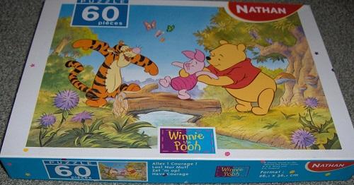 Puzzle Allez! Courage! Winnie the pooh 60 pièces