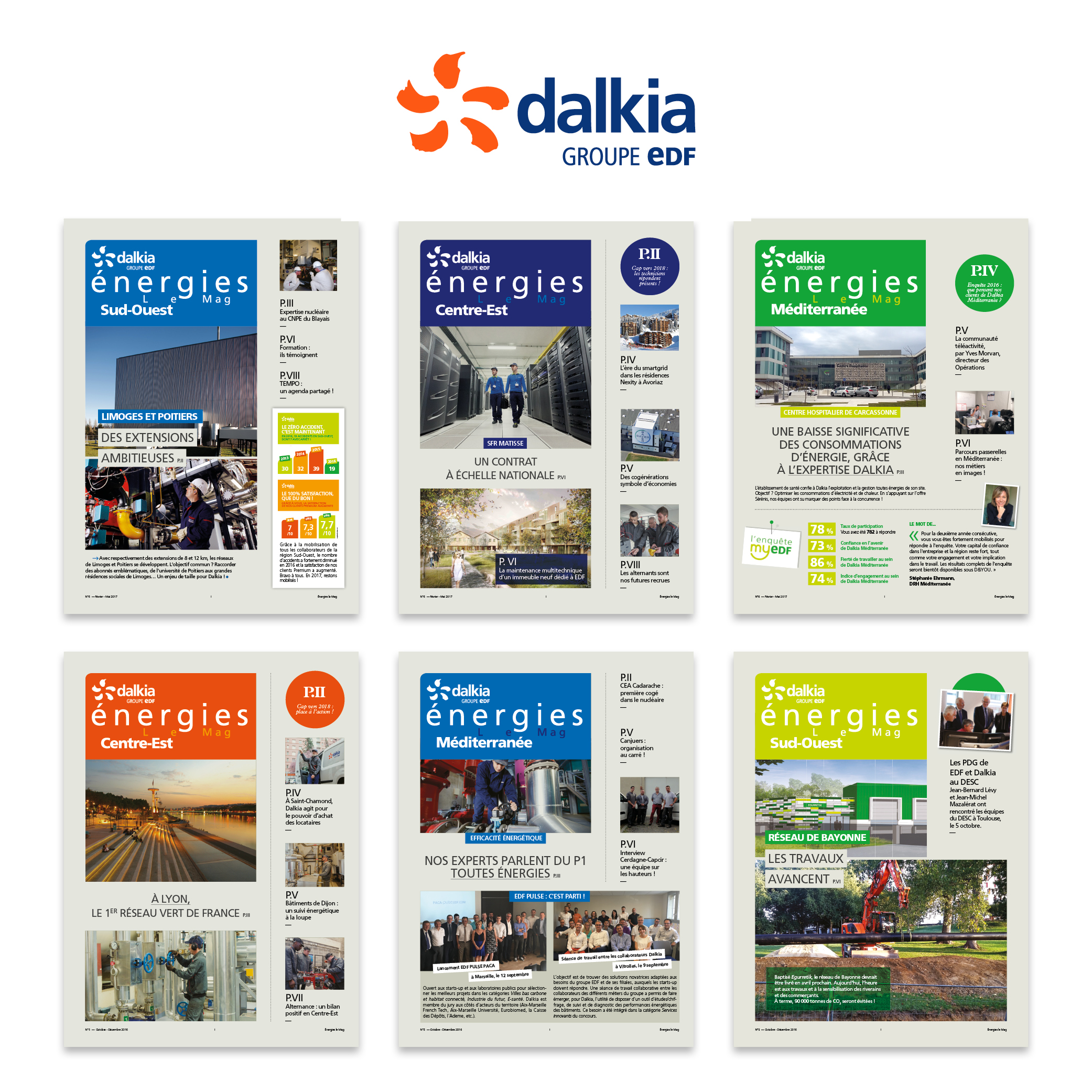 Dalkia magazine interne Energies le mag par Cités Plume, agence de communication à Villeurbanne, Rhône