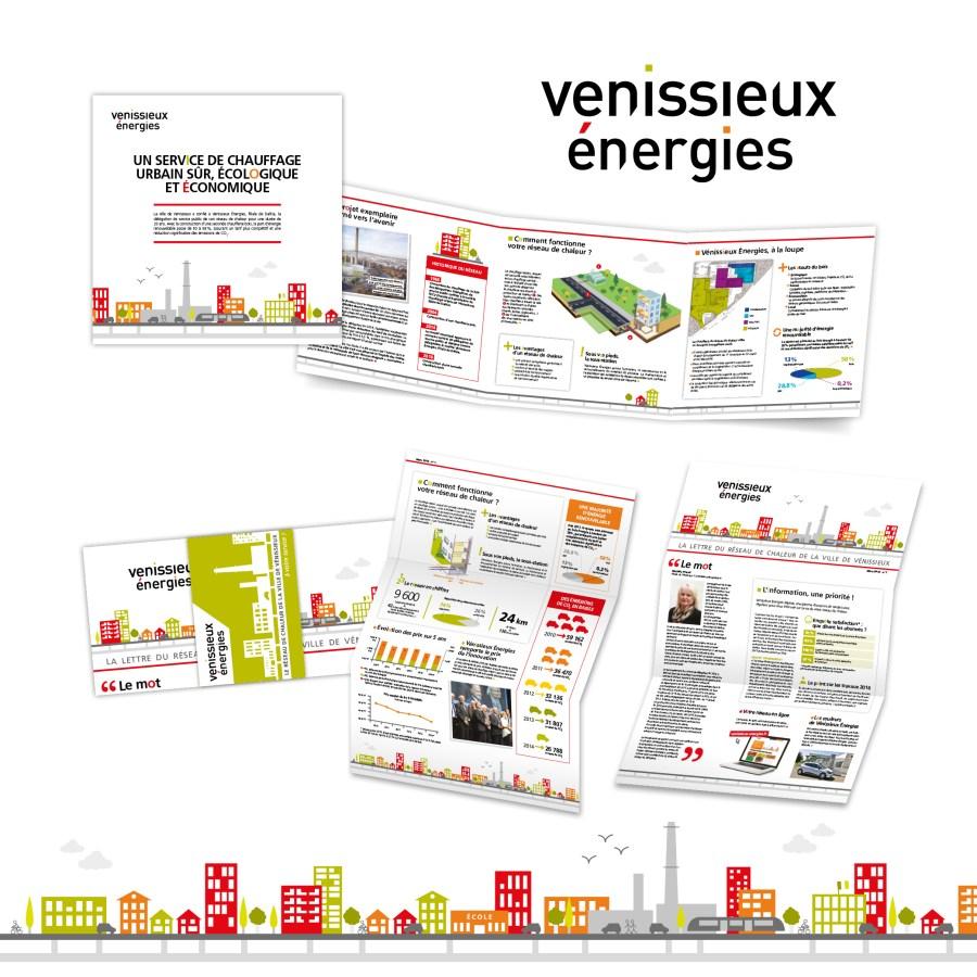 réseau de chaleur de la ville de Vénissieux par Cités Plume, agence de communication à Villeurbanne, Rhône