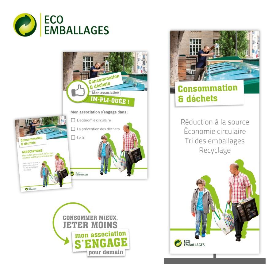 Sensibilisation à la réduction des déchets pour Eco-Emballages par Cités Plume, agence de communication à Villeurbanne, Rhône