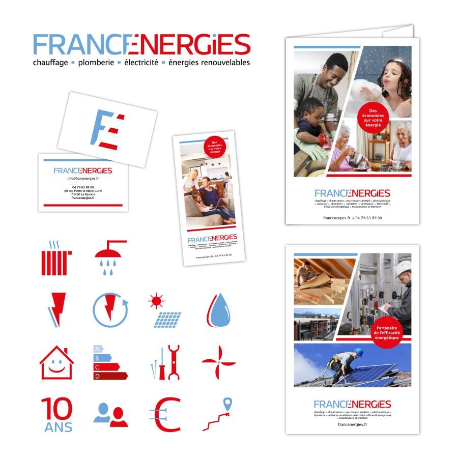 une identité pour francenergies par Cités Plume, agence de communication à Villeurbanne, Rhône