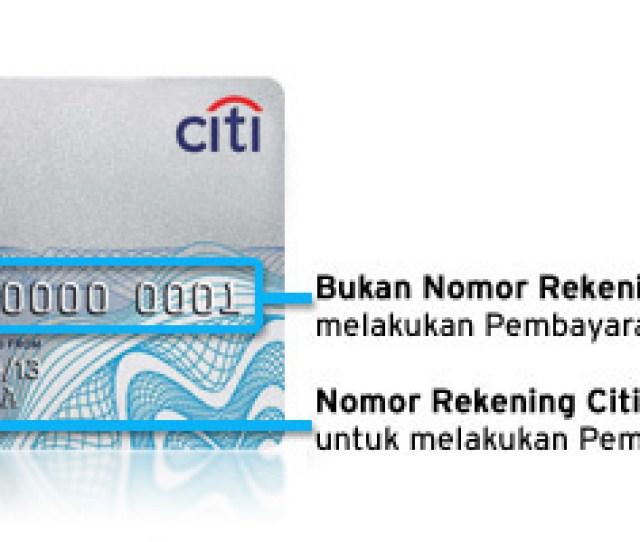 Bukan Nomor Rekening Untuk Melakukan Pembayaran Nomor Rekening Citibank Ready Credit Untuk Melakukan Pembayaran