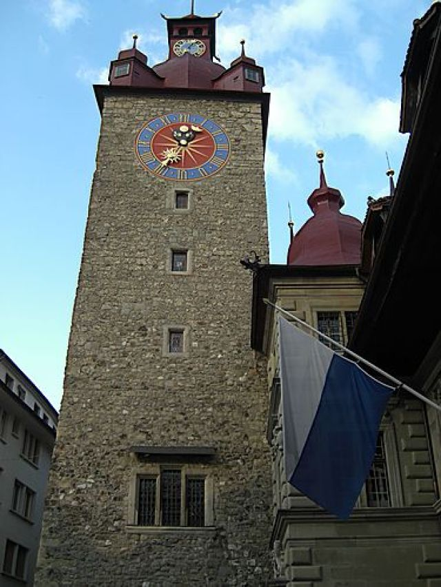 Сградата на кметството на град Люцерн