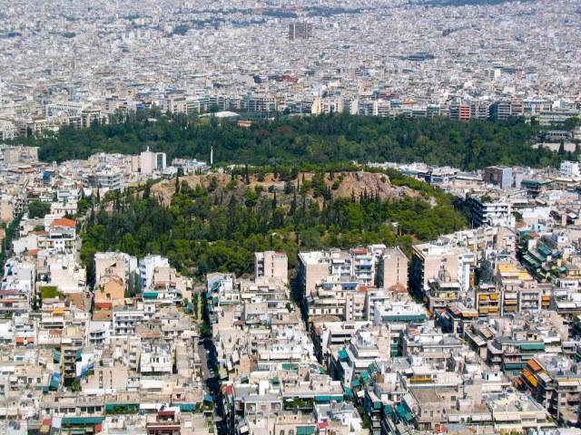 Екзархия и хълмът Стрефи