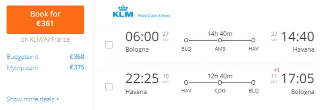Предложение на седмицата: Двупосочни полети до Хавана за 361 Евро