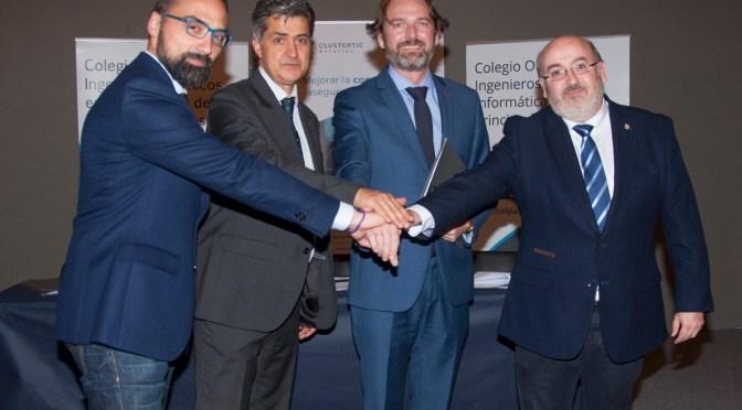 Los Colegios Oficiales de Ingenierías en Informática de Asturias, el Clúster TIC y AENOR, firman un convenio para la formación en Ciberseguridad