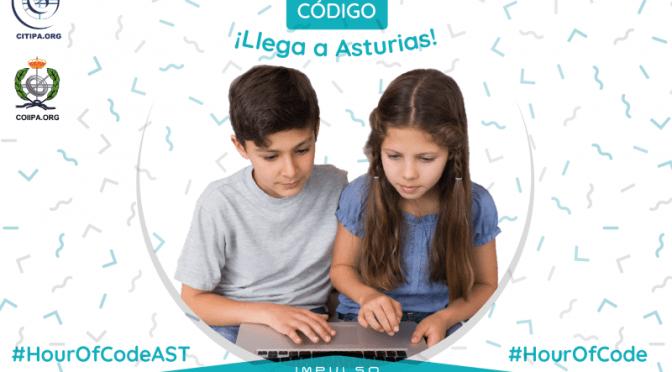 La Hora del Código en Asturias de la mano de CITIPA y COIIPA, 2019