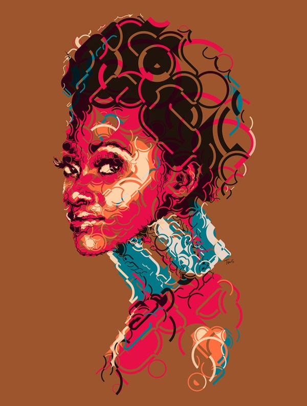 FILE: Experimental_AfricanGirl. TITLE: African Girl CLIENT: Personal Project COUNTRY: Greece KIND: Experimental illustration YEAR: 2013 DESCRIPTION: A series of experimental mosaics illustrations on the subject of African beauty.