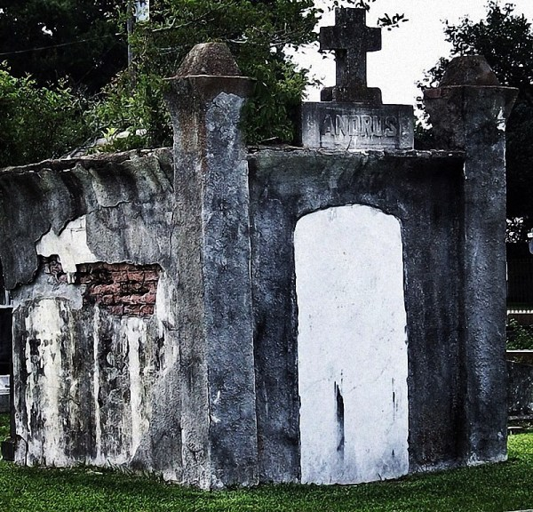Crowley Cemetery, Crowley, Louisiana. The family crypt of the Andrus Family ©Myron Ropp