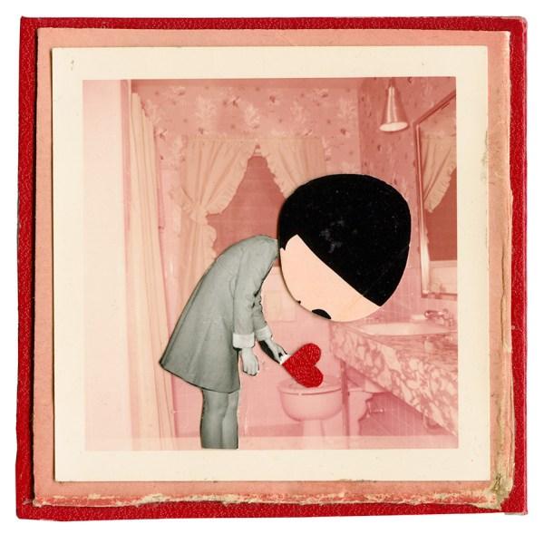 Red Heart in Bed © Elizabeth Schoettle