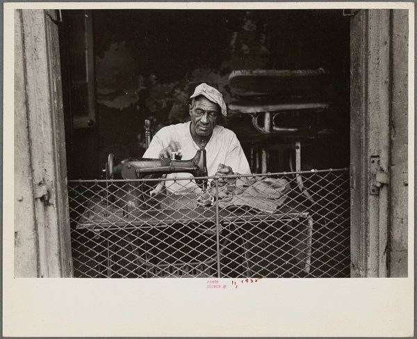 Ben Shahn - Scene in New Orleans, Louisiana. A street tailor – 1935 http://digitalcollections.nypl.org/items/7b8c4cf0-fc0d-0132-4b3d-58d385a7b928