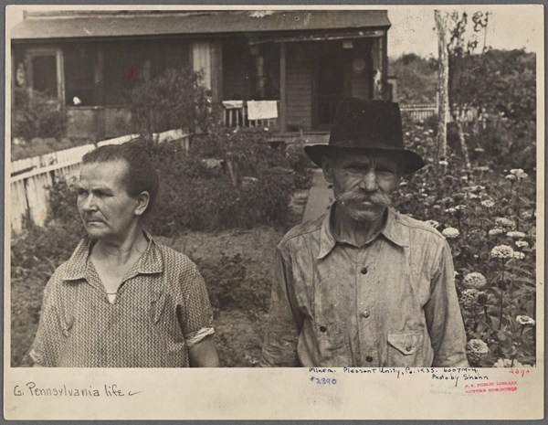 Ben Shahn - Hungarian miner, Calumet, Pennsylvania. Worked in the mines for thirty-four years, now sixty-three with no pension and no work – 1935 http://digitalcollections.nypl.org/items/13d710d0-da36-0132-b059-58d385a7bbd0
