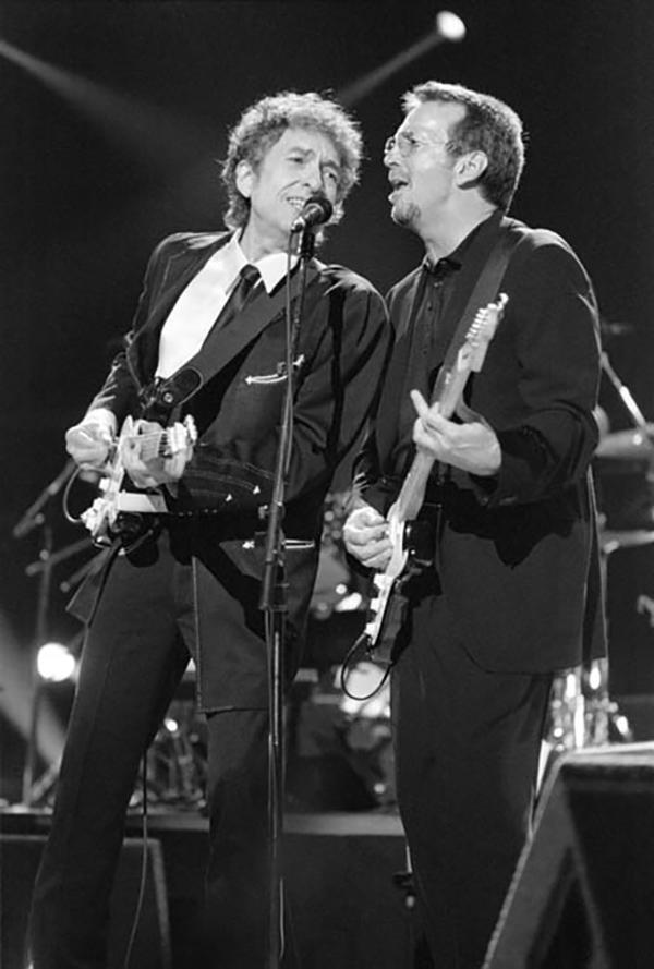 Dylan -Clapton ©Gene Shaw