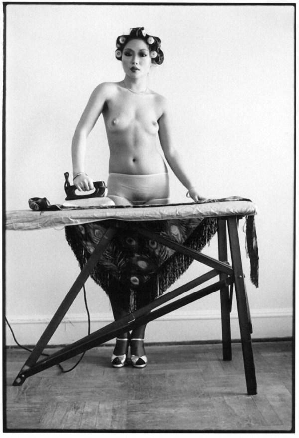May Wong ironing ©Arlene Gottfried