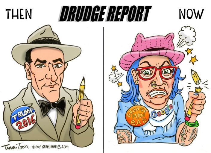 Ben Garrison cartoon on Matt Drudge…
