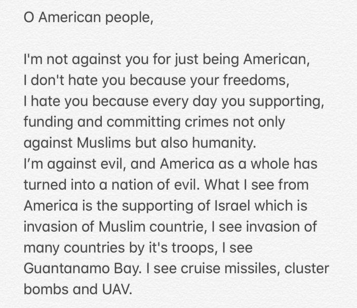 Saudi killer tweeted message before attack…