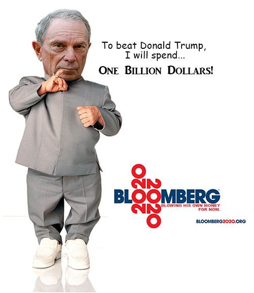 Image result for trump bloomberg mini me