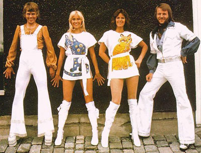 Abba lineup from left Björn Ulvaeus, Agnetha Fältskog, Anni-Frid Lyngstad (usually known as Frida) and  Benny Andersson