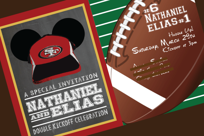 49er Mickey Invitation