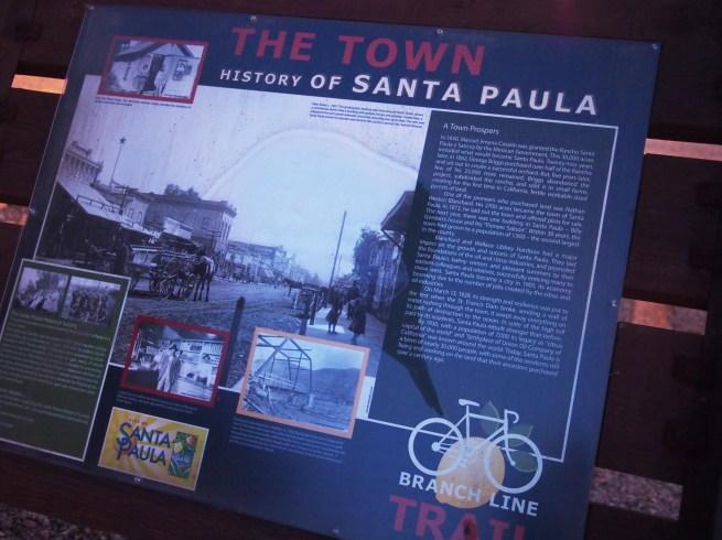 History of Santa Paula Informational Plaque via Citlali Rose