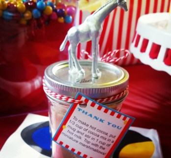 Baby Shower Circus Theme Favors