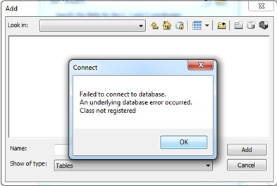 Failed to Connect to Database