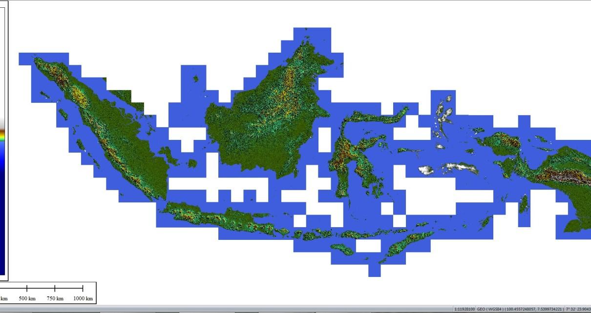 SRTM 30 METER SELURUH INDONESIA