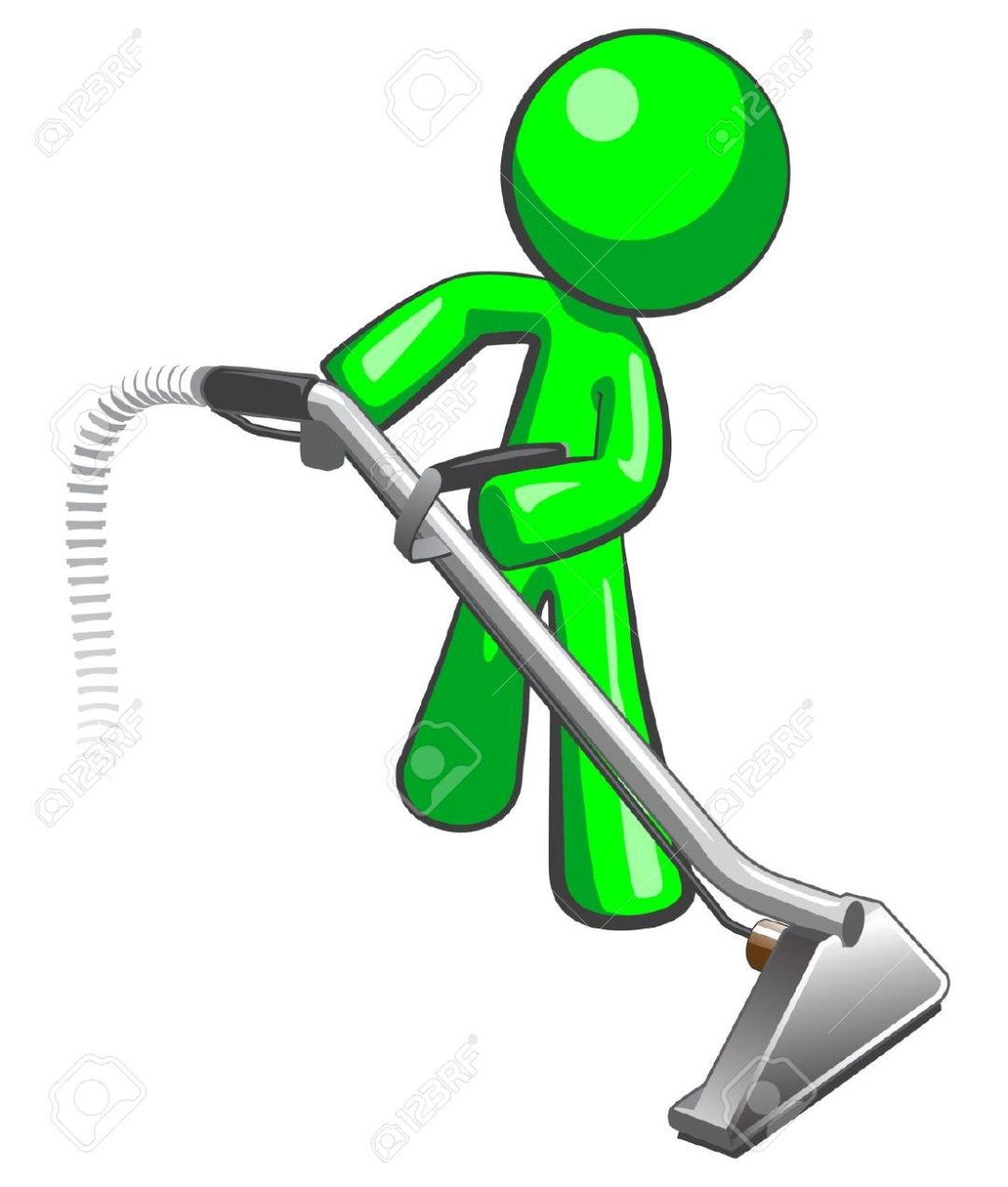 12803690-Green-man-with-steam-cleaner-carpet-wand-extracting-floor-Stock-Vector
