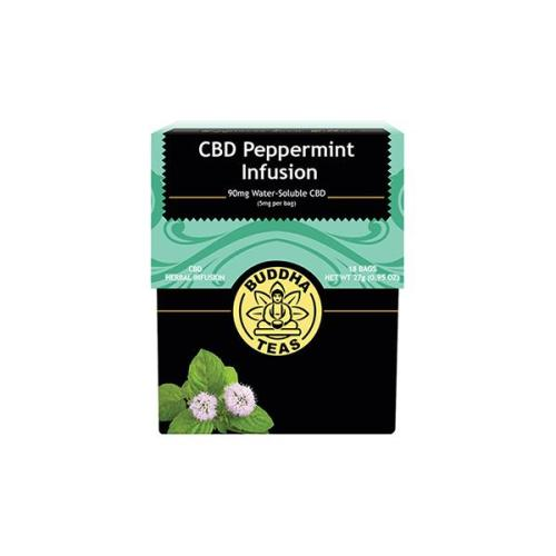 Buddha teas cbd tea peppermint infusion x 18 tea bags 90mg cbd