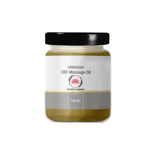 blackthorne organics cbd massage oil 100mg cbd