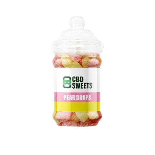 CBD Asylum CBD sweets hard candy pear drops 500mg cbd