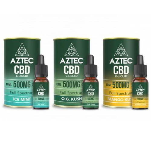 Aztec CBD 500mg CBD Vaping Liquids uk