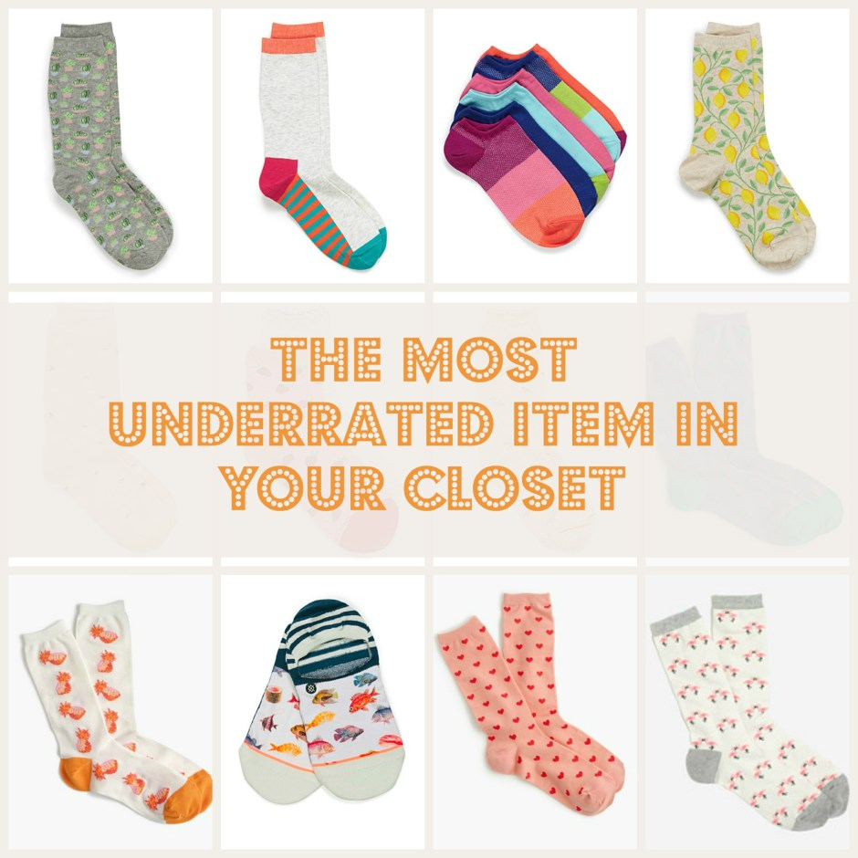 the most underrated item in your closet colorful printed socks