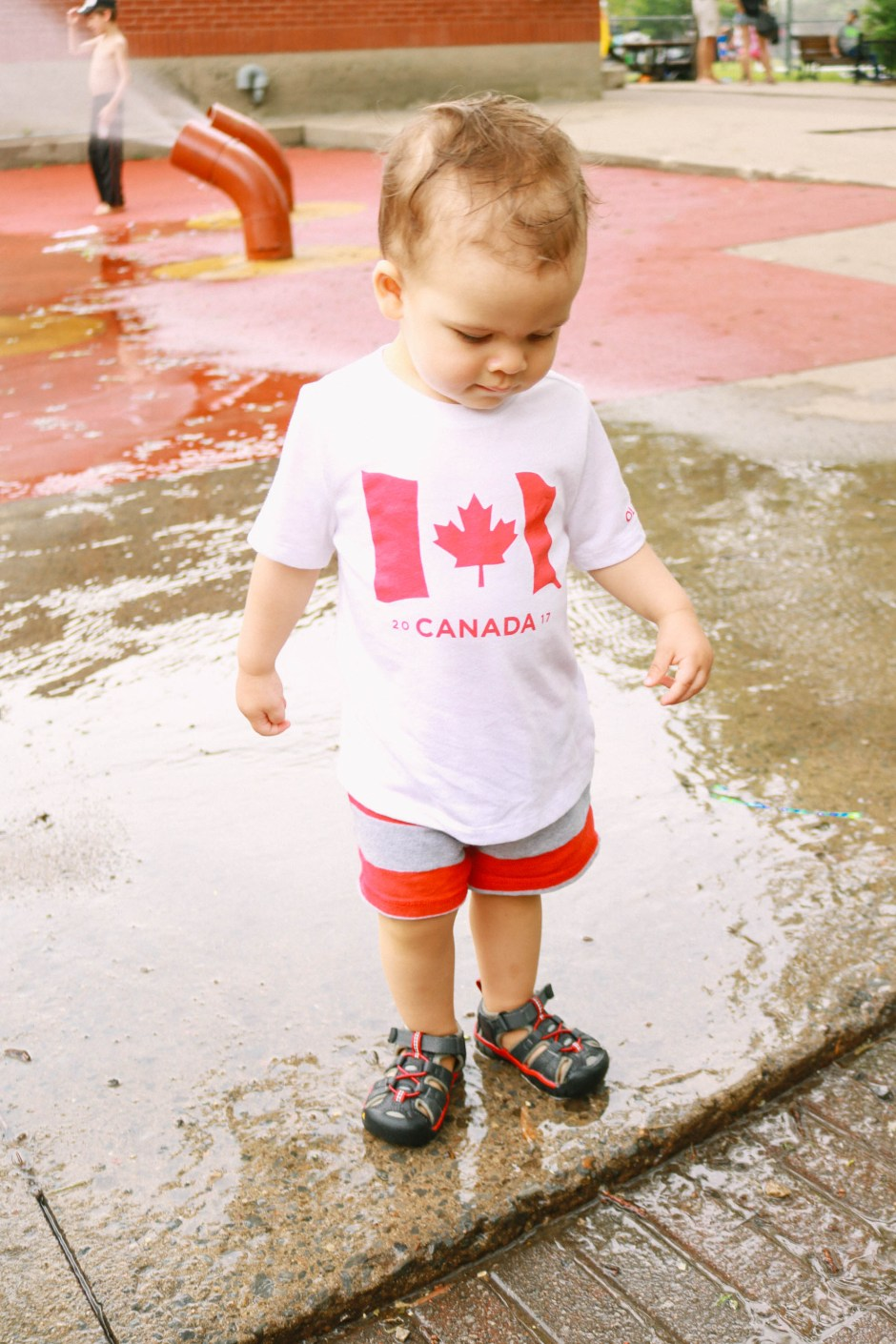 toddler style red and white canada day outfit