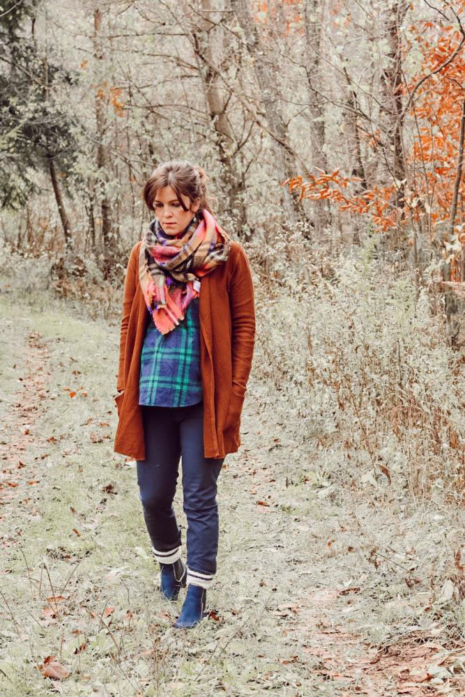 winter style, fashion tips, plaid on plaid, plaid shirt